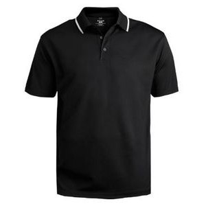 Edwards Men's Dry Mesh Hi Performance Polo Shirt w/ Tipped Collar