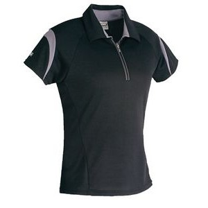 Ladies Mercury Short Sleeve Zip Neck Polo Shirt
